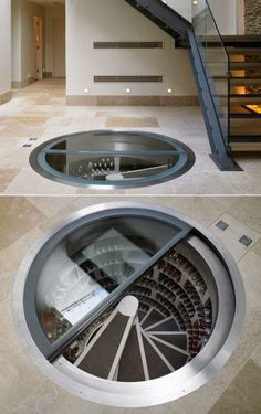 Architecture The perfect way to show off wine without displaying throughout the house. Still might not compete with a wine cellar/library