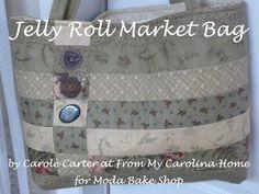 Jelly Roll Market Bag | Free tutorial from Moda