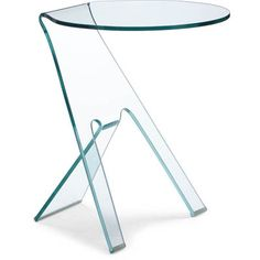 Zuo Modern 404105 Journey Side Table, Clear Glass at Coast Lighting