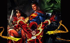 flash,wonderwoman, superman, manhunter