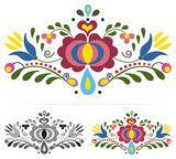 Colored Slovak Folk Ornaments Wall Sticker