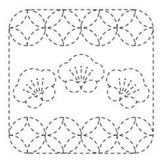 Japanese Embroidery Designs Sashiko flower cloth fabric Pack white 79 plum and round cloisonne (stop… Paper Embroidery, Japanese Embroidery, Cross Stitch Embroidery, Embroidery Patterns, Quilt Patterns, Embroidery Scissors, Art Patterns, Flower Embroidery, Embroidered Flowers
