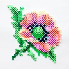 Flower hama perler beads by coriander_dk