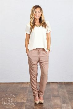 Perfect Spring Linen Jogger Pants {Jane Deals}