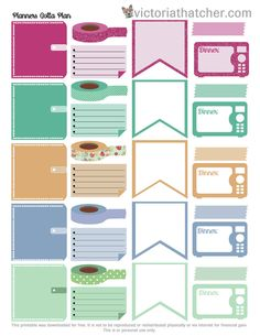 Free Printable Planners Gotta Plan Planner Stickers from Victoria Thatcher