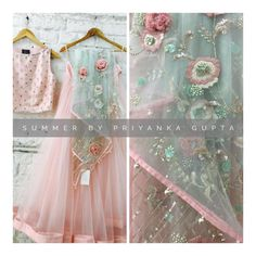 Beautiful blush pink color lehenga and crop top with powder blue color net dupatta. Crop top with hand embroidery thread work. Dupatta with classy floret lata design hand embroidery thread work. Blush Pink Wedding Dress, New Wedding Dresses, Wedding Outfits, Pakistani Dresses, Indian Dresses, Indian Outfits, Western Lehenga, Simple Lehenga, Diy Wedding Backdrop