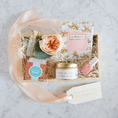 "Marigold & Grey's new ""Will You Be My Bridesmaid?"" gift box. All photos by Abby Jiu."