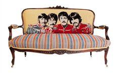 the Beatles rock this sofa!