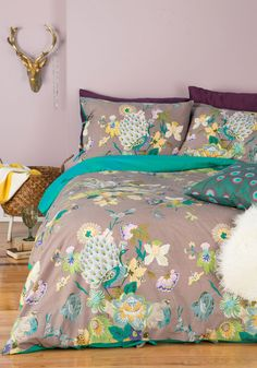 But they never sell anything larger than Queen. Fowl Play Duvet Cover Set in Full/Queen, #ModCloth
