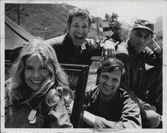 M*A*S*H*! Margaret, Trapper, Hawkeye and Henry. I just love this picture!
