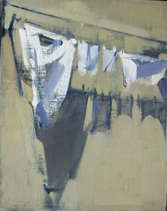 Laundry, 2010, 9 x 11 ins, oil on linen. Maggie Siner
