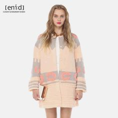 eni:d 冬季新款商城同款韩版提花长款长袖毛衣外套 1586952-tmall.com天猫