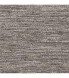Tapis Grey Faux Grasscloth Wallpaper