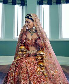 Desi Wedding Dresses, Indian Wedding Outfits, Bridal Outfits, Bridal Dresses, Wedding Lenghas, Indian Weddings, Indian Bridal Fashion, Indian Fashion Dresses, Indian Designer Outfits
