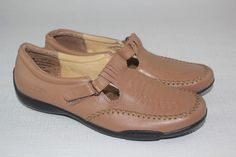 Womens DR. SCHOLLS Brown Leather Mary Jane Sandal Shoes 9 M #DrScholls #MaryJanesSandal