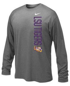 Nike Lsu Tigers Vertical Mascot Legend Long Sleeve T-Shirt, Big Boys (8-20) - Carbon Heather XL