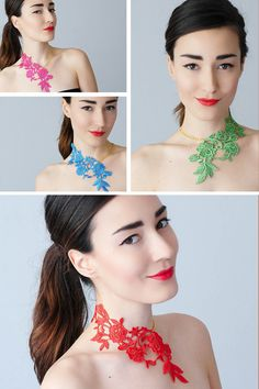 Lasata // Lace Necklace/ Statement Necklace/ Lace Fashion/ Floral Necklace/ Women Accessory/ Gift For Her/ Woman Fashion