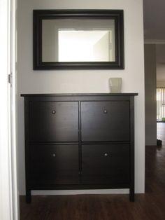 Hemnes Shoe Cabinet Behind Front Door