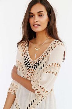 Crochet Inset Tunic Top