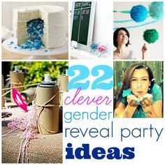 "reveal themes ""gender reveal ideas"" [Fun Ideas for Baby Showers and Gender Reveal Parties] Baby Gender Reveal Party, Gender Party, Shower Party, Baby Shower Parties, Baby Showers, Everything Baby, Baby Time, Reveal Parties, Baby Party"