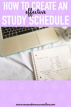 How To Create An Effective Study Schedule // study schedule tips