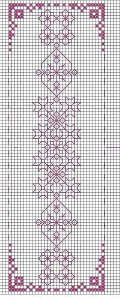 blackwork - Page 2 Cross Stitch Bookmarks, Cross Stitch Borders, Cross Stitch Charts, Cross Stitch Designs, Cross Stitching, Cross Stitch Patterns, Motifs Blackwork, Blackwork Embroidery, Cross Stitch Embroidery