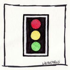 by Whitney Fawn for #30DoC Day 18 - Traffic Light - @createstuff