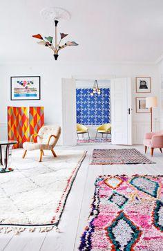 Home Interior Hallway .Home Interior Hallway Room Inspiration, Interior Inspiration, Home And Living, Living Room, Decoration Design, Pink Rug, Interior And Exterior, Color Interior, Retail Interior