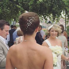 Our fabulous Nathan working his hair magic at this wedding in Portugal.    To book your free Wedding Hair consultation call 02920461191   O.Constantinou & Sons, 99 Crwys Rd, Cardiff. CF24 4NF   #WeddingHair #BridalHair #WeddingHairCardiff #HairSalonCardiff #WeddingHairUp #WeddingIdeas