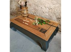 Outdoor Furniture, Table, Chalk Paint, Outdoor Decor, Furniture, Chalk, Coffee Table, Deco, Pallet Coffee Table