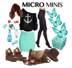 """""""Mint mini skirt"""" by merima-musanovic ❤ liked on Polyvore featuring Wolford, Wet Seal, Rock & Candy, Kooba, Forever 21, Gottex, Dolce&Gabbana, Sequin, Eos and NARS Cosmetics"""
