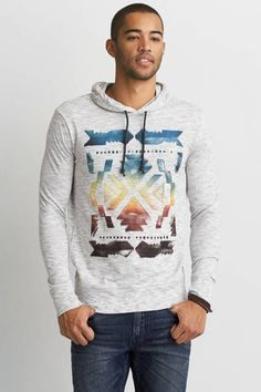 AEO Graphic Hooded T-Shirt by AEO | Aged to perfection. Shop the AEO Graphic Hooded T-Shirt and check out more at AE.com.