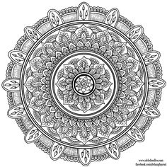 Hand-Drawn Mandala 7 by WelshPixie on DeviantArt Mandala Coloring Pages, Coloring Book Pages, Trippy Drawings, Mandala Drawing, Mandala Artwork, Printable Adult Coloring Pages, Mandala Design, How To Draw Hands, Doodles