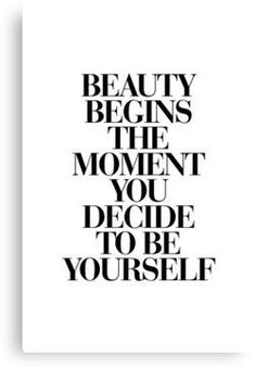 Beauty Begins The Moment You Decide to be Yourself – Coco Chanel Poster von Brett Wilson bei AllPosters.de Beauty Begins The Moment You Decide to be Yourself – Coco Chanel Poster von Brett Wilson bei AllPosters.