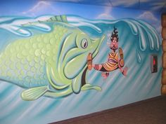 Church Mural - Jonah and the Whale - Mural Idea in