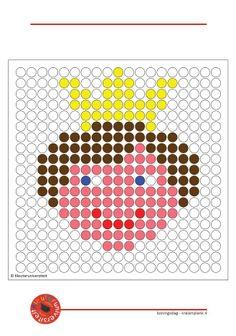 kralenplanken-Koningsdag- groot formaat om uit te printen Prince, Perler Beads, Holland, Knight, Fairy Tales, Medieval, Kids Rugs, Cards, Cloth Art Dolls