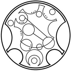 """Be extraordinary"" written in circular Gallifreyan requested by tardex"
