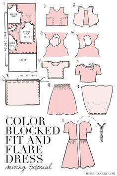 Merrick's Art // Style + Sewing for the Everyday Girl :  DIY FRIDAY: COLOR BLOCKED LACE FIT AND FLARE DRESS