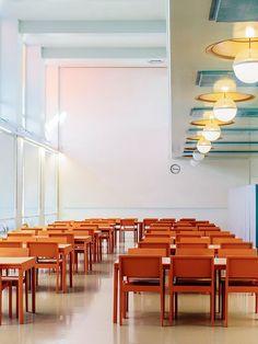 The cafeteria of the Paimio Sanatorium