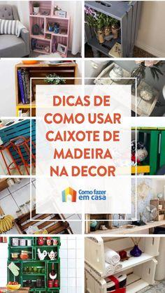 Wooden Crates for Decoration: 20 ideas Wooden Crates, Pallet, Storage, Diy, House, Home Decor, Nova, Christian, Design