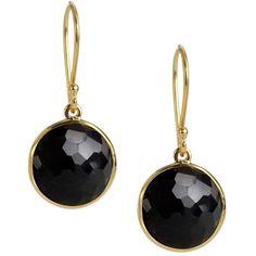 Ippolita Mini Lollipop Earrings (830 AUD) ❤ liked on Polyvore featuring jewelry, earrings, gioielli, onyx, ippolita earrings, earring jewelry, heart shaped jewelry, ippolita jewelry and 18 karat gold jewelry