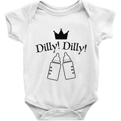 0-2T POP-Front Funny Beer Drinking Dilly Dilly Crown Funny Infant Jumpsuit Romper Baby Layette Bodysuit Kids One-Piece