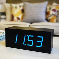 Large Black Wood Clock... Definitely want one of these!