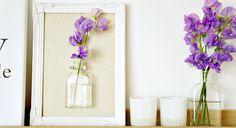 DIY bloemenvaasje in een lijstje