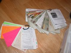 Rings, great for saving birthday & Christmas cards for kids and for storing recipe cards together!