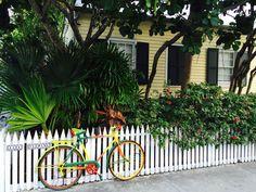 Art bike on Fleming Street, Key West,FL strolling the streets of Old Town Key West.