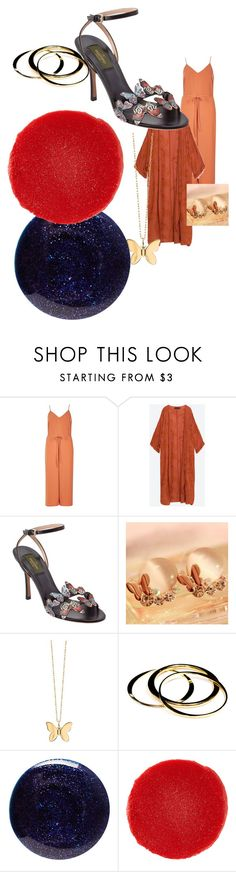 """""""70s summer"""" by alisafranklin on Polyvore featuring River Island, Valentino, Seoul Young, Sydney Evan, Janna Conner, Lauren B. Beauty and Christian Louboutin"""