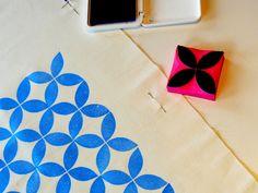 Rianne van der Waals: Fabric stamping