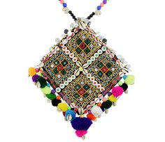 Kutchi Bharat Necklace For Chaniya Choli #navratri2015 #chaniyacholi #handmade fashionvalley.in