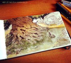 Sketch + watercolor #centaras by nicolasammarco.deviantart.com on @DeviantArt